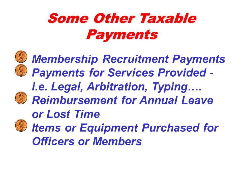Some Other Taxable Payments