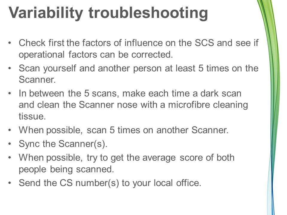 Variability troubleshooting