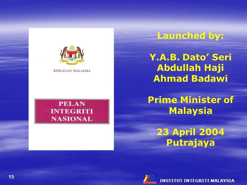 Y.A.B. Dato' Seri Abdullah Haji Ahmad Badawi