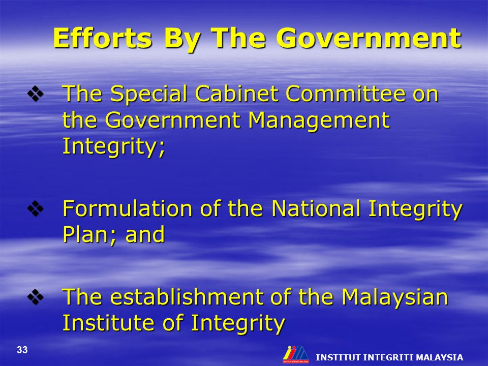 Efforts By The Government