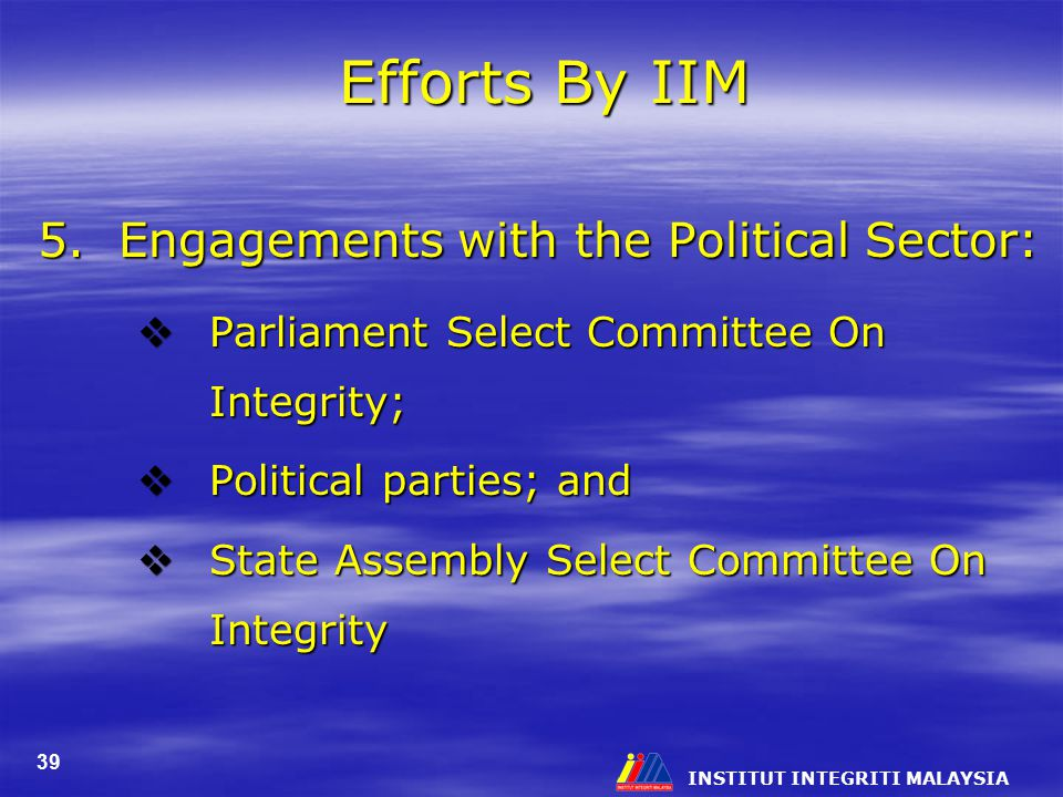 Efforts By IIM 5. Engagements with the Political Sector: