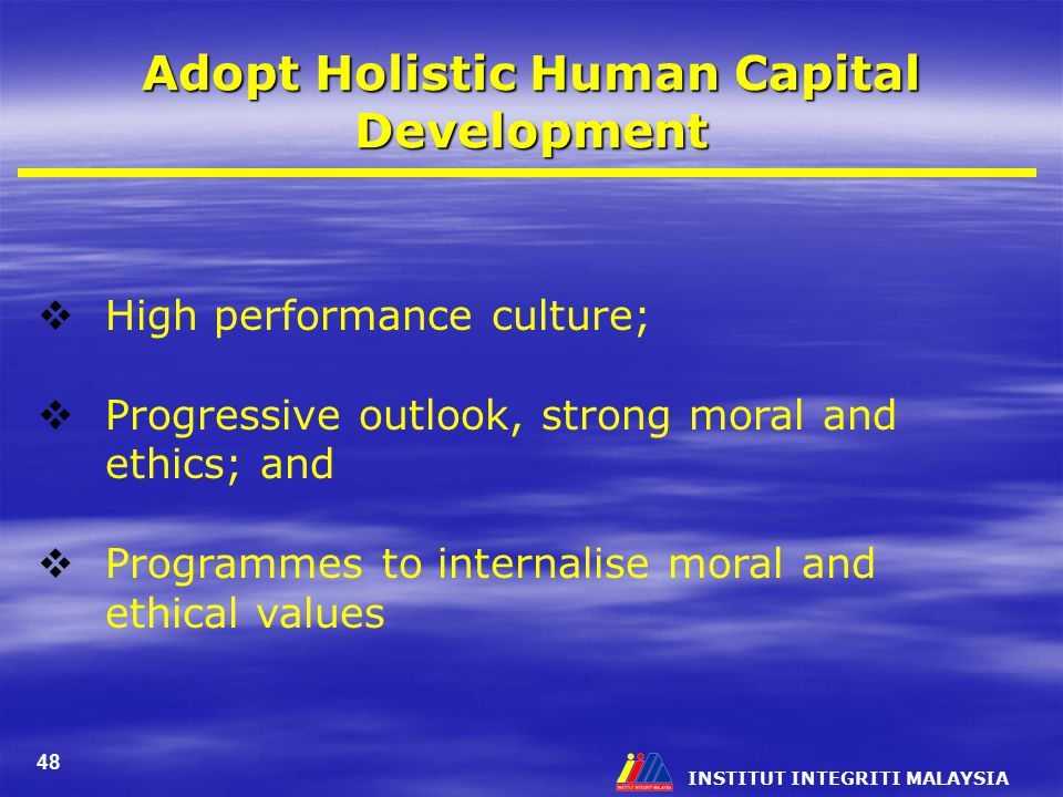 Adopt Holistic Human Capital Development
