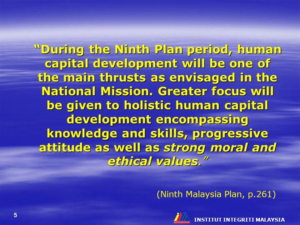 (Ninth Malaysia Plan, p.261)