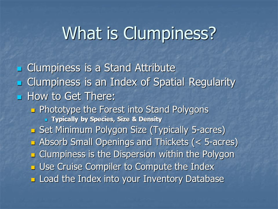 What is Clumpiness Clumpiness is a Stand Attribute
