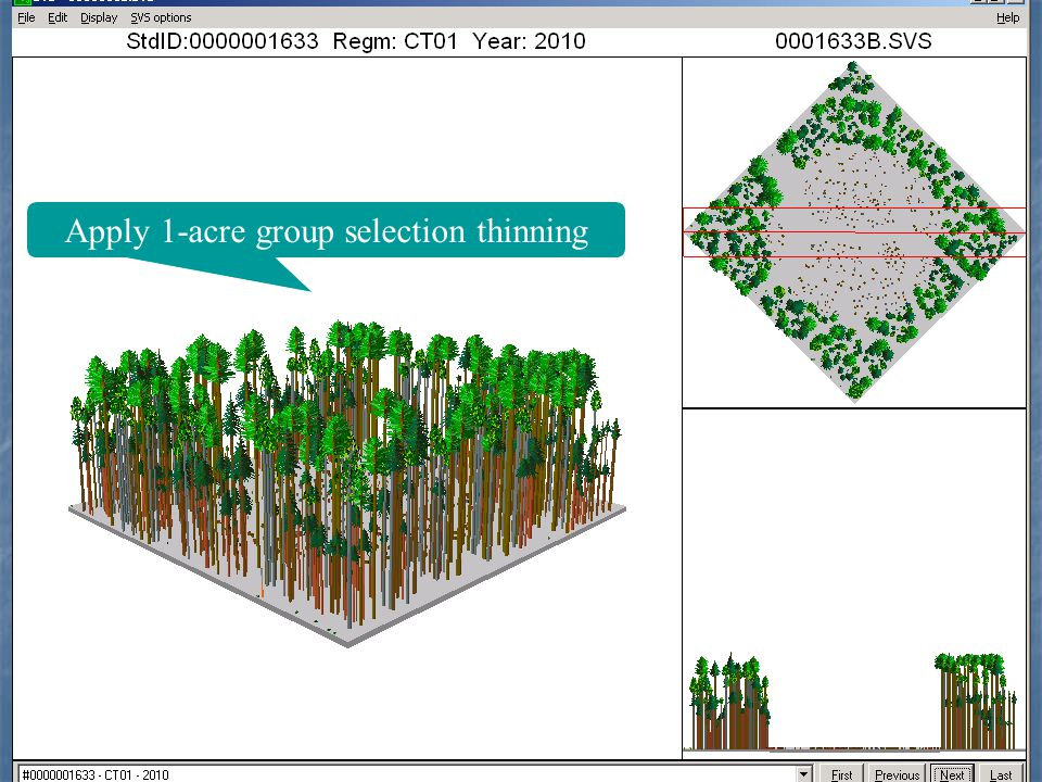 Apply 1-acre group selection thinning