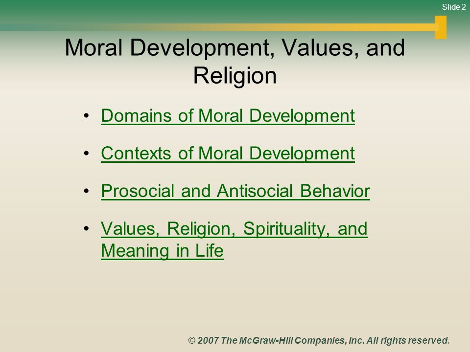 moral development values and religion Anca mustea, oana negru, a opre morality and religion: a psychological perspective journal for the study of religions and ideologies, 9, 26 (summer 2010) 29 analyze the influences of religion on morality.