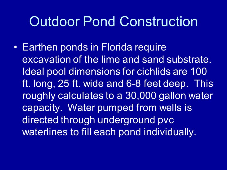Outdoor Pond Construction