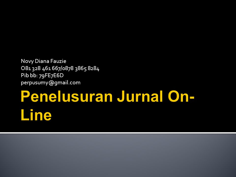 Penelusuran Jurnal On-Line