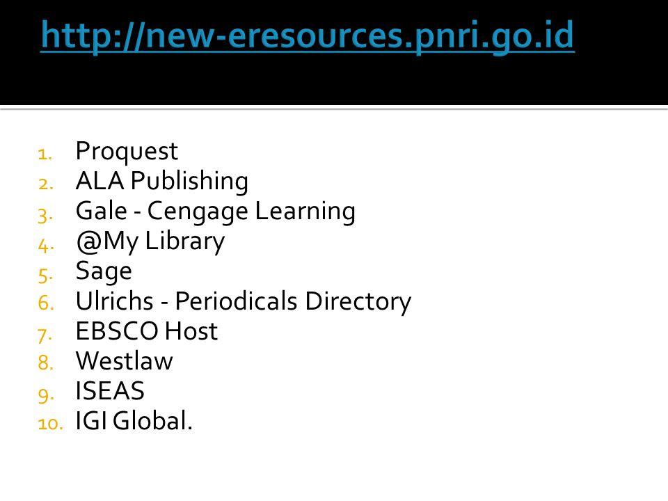 http://new-eresources.pnri.go.id Proquest ALA Publishing