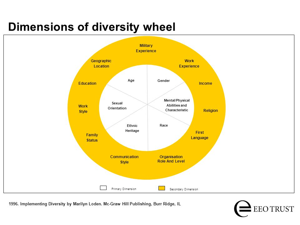 Dimensions of diversity wheel