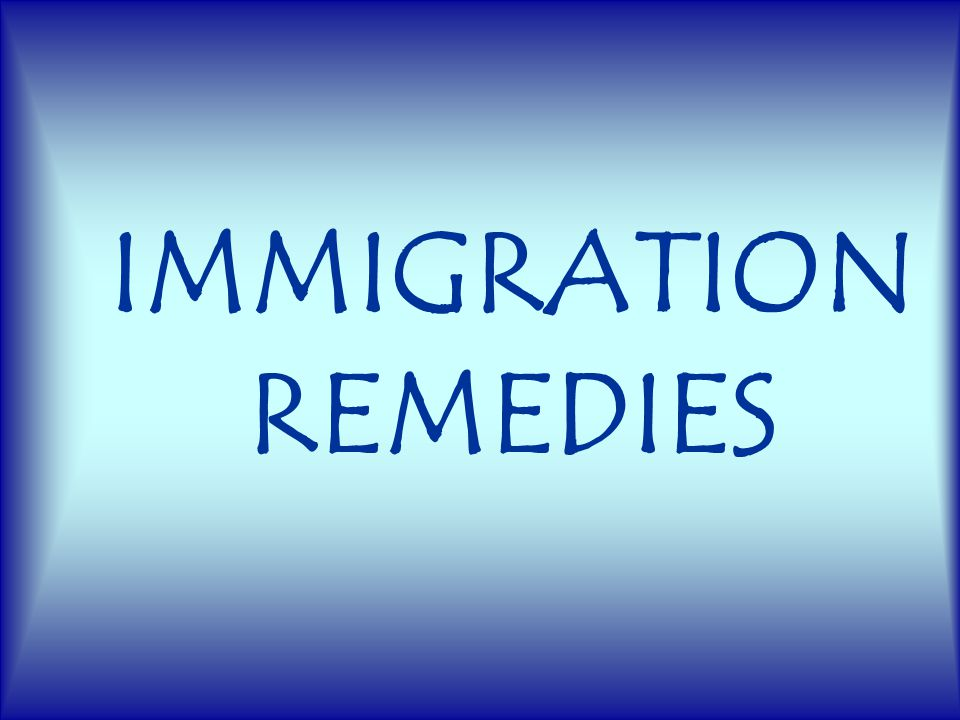 IMMIGRATION REMEDIES