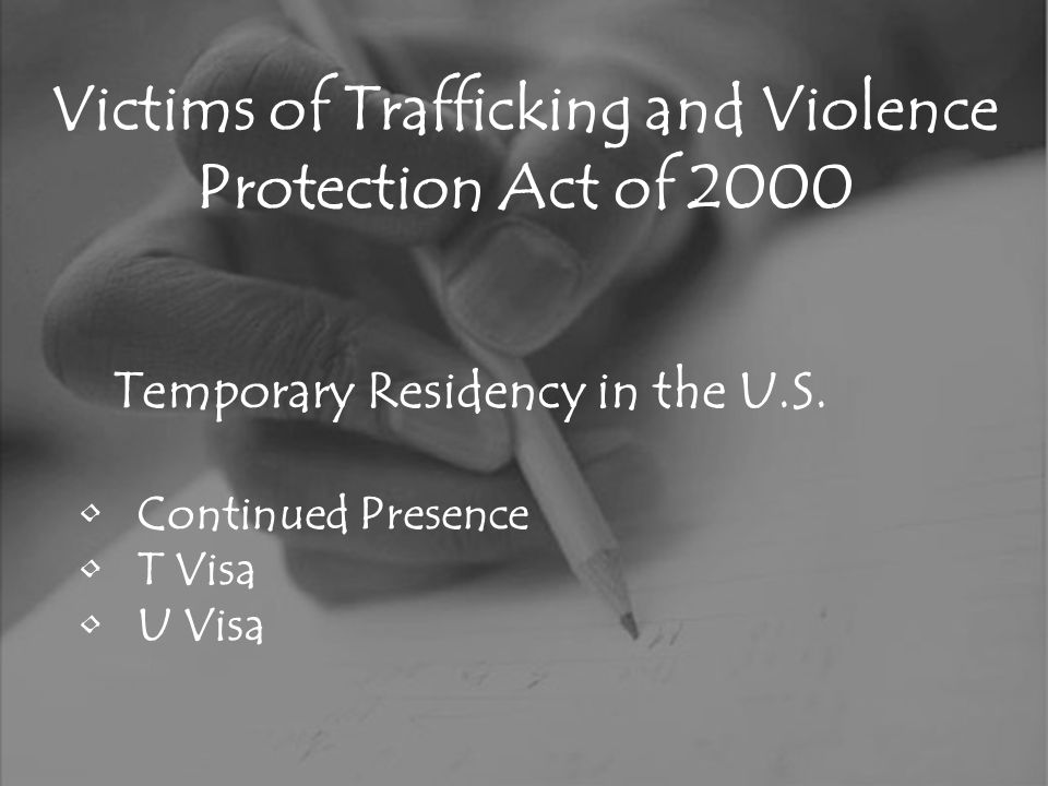 Victims of Trafficking and Violence Protection Act of 2000