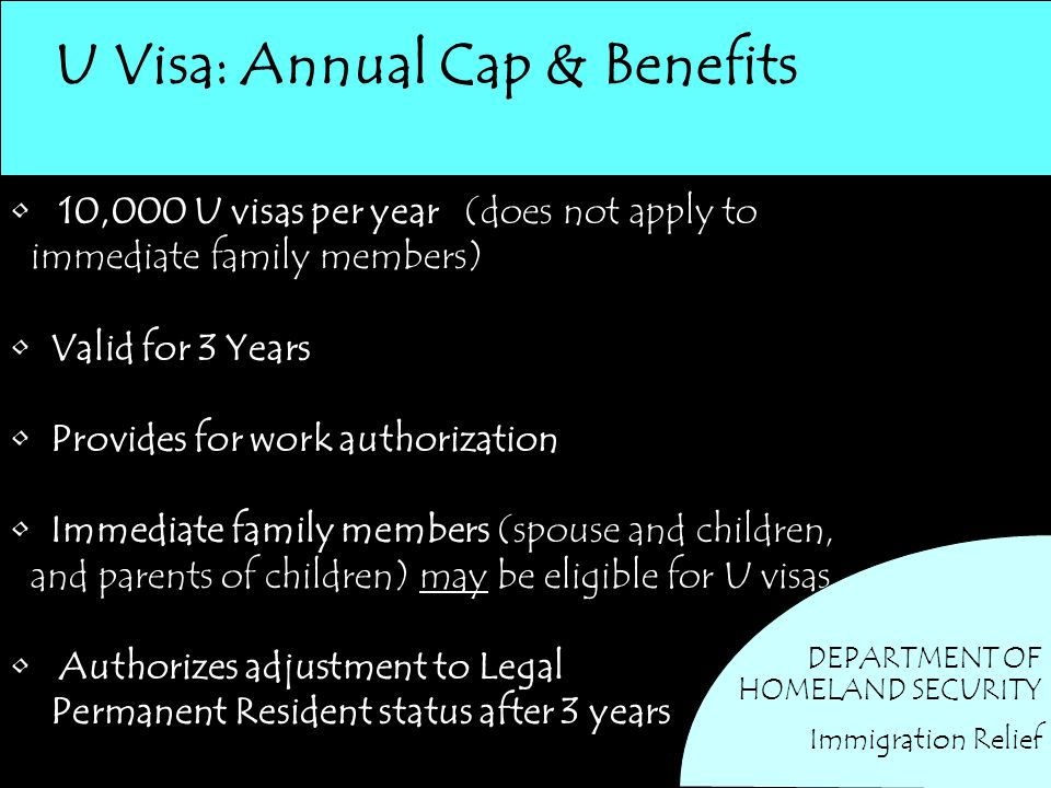U Visa: Annual Cap & Benefits