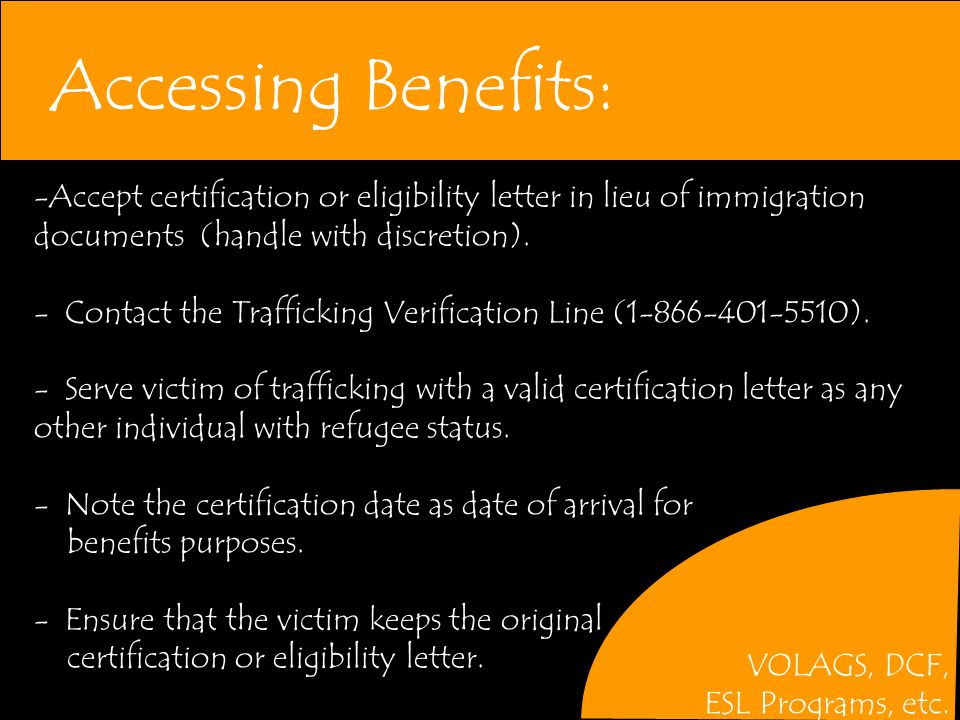 Accessing Benefits: