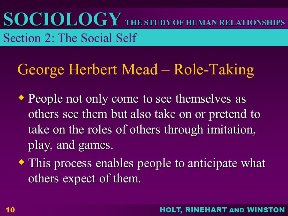 George Herbert Mead – Role-Taking