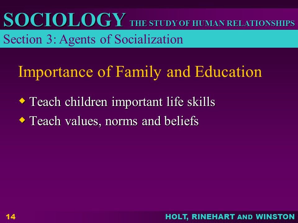 Importance of Family and Education