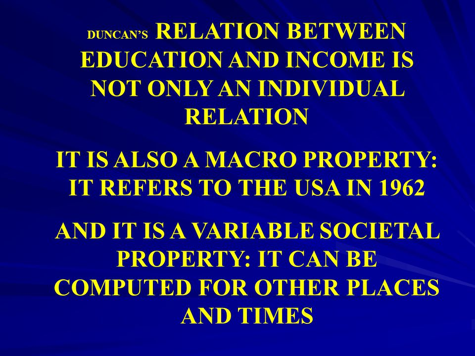 IT IS ALSO A MACRO PROPERTY: IT REFERS TO THE USA IN 1962