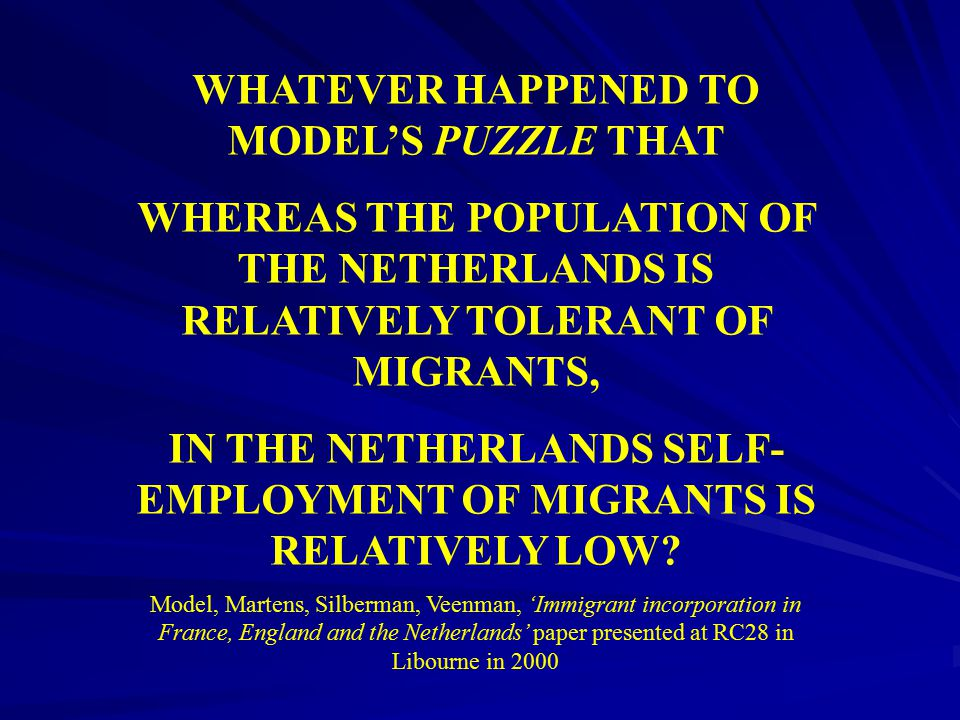 WHATEVER HAPPENED TO MODEL'S PUZZLE THAT