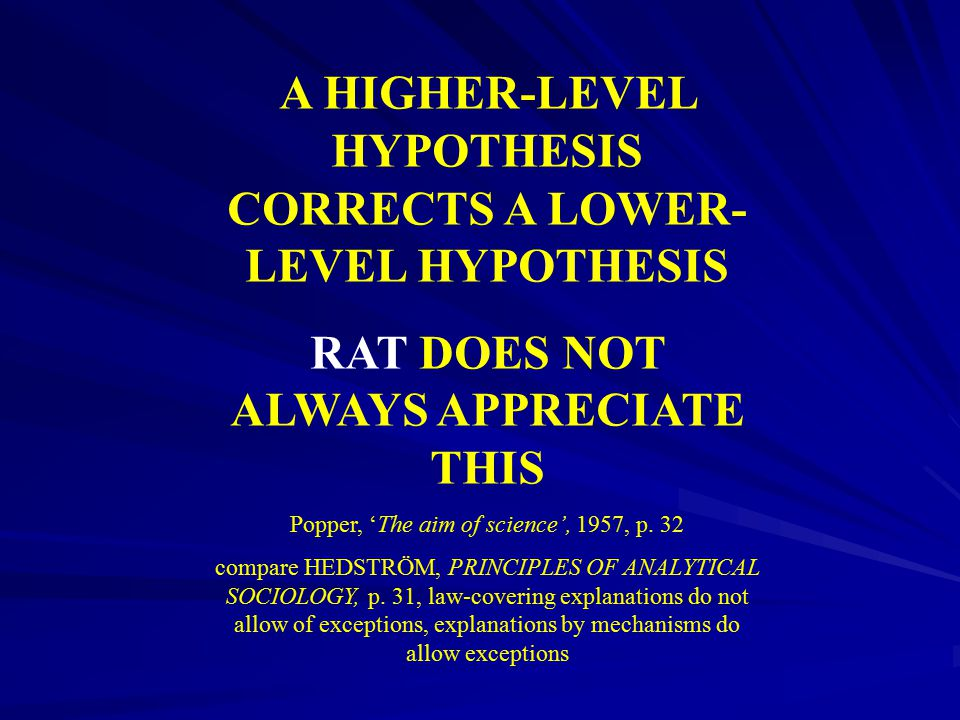 A HIGHER-LEVEL HYPOTHESIS CORRECTS A LOWER-LEVEL HYPOTHESIS