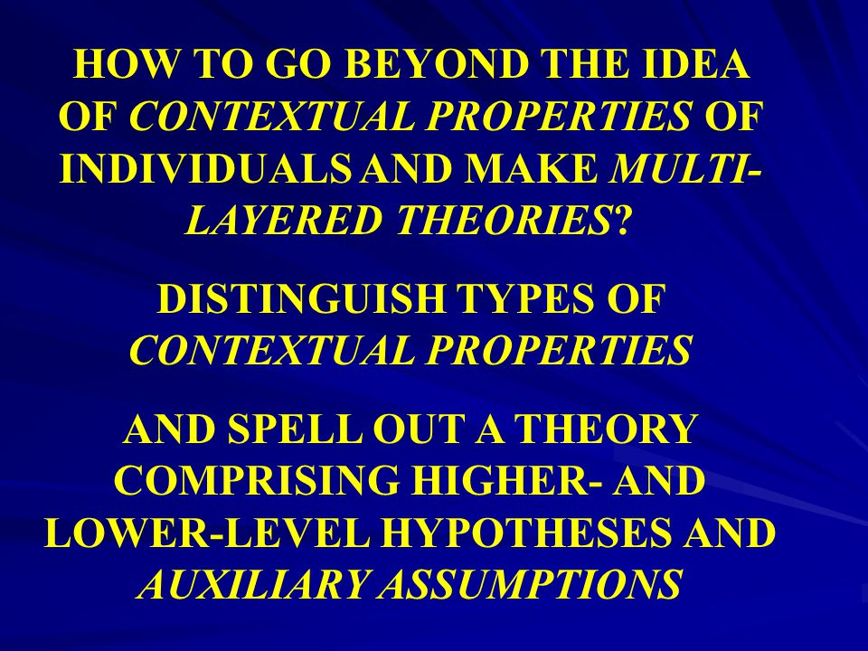 DISTINGUISH TYPES OF CONTEXTUAL PROPERTIES