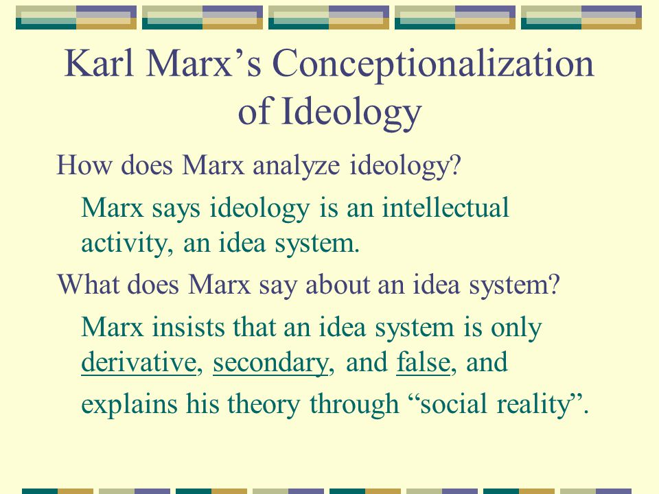 Karl Marx's Conceptionalization of Ideology