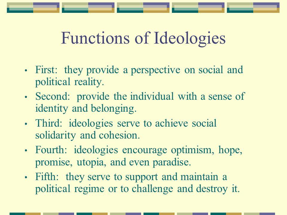 Functions of Ideologies