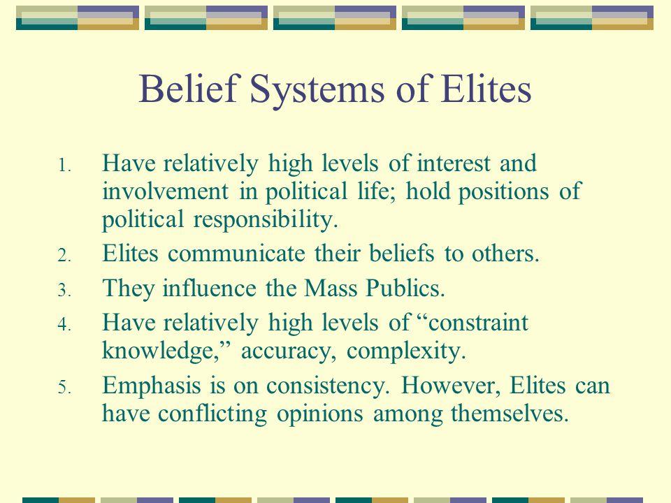 Belief Systems of Elites