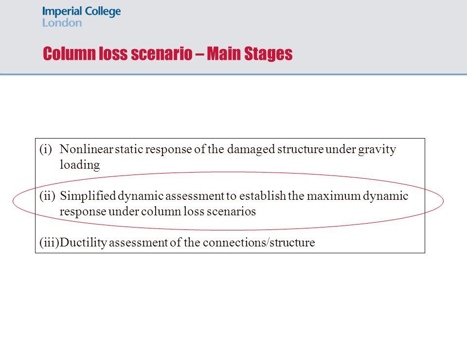 Column loss scenario – Main Stages
