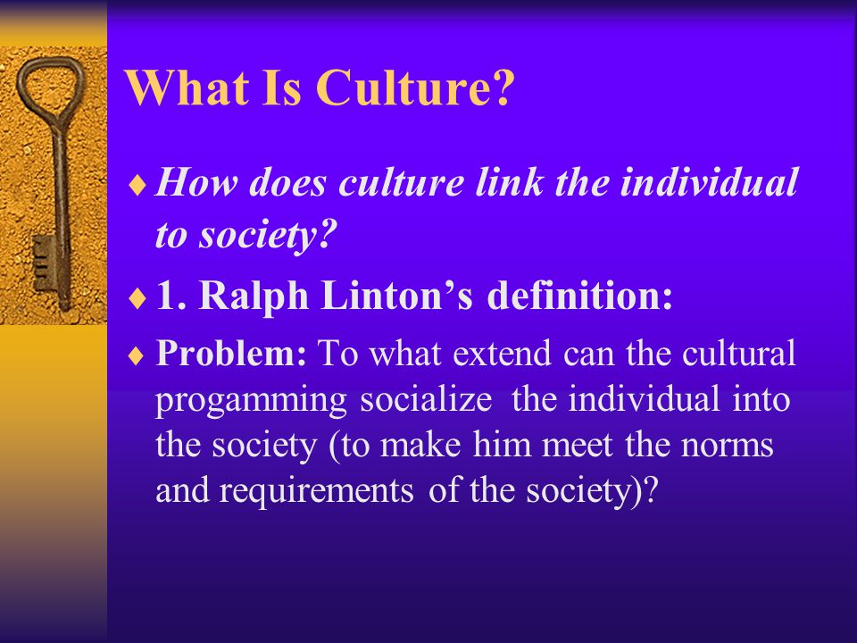 What Is Culture How does culture link the individual to society