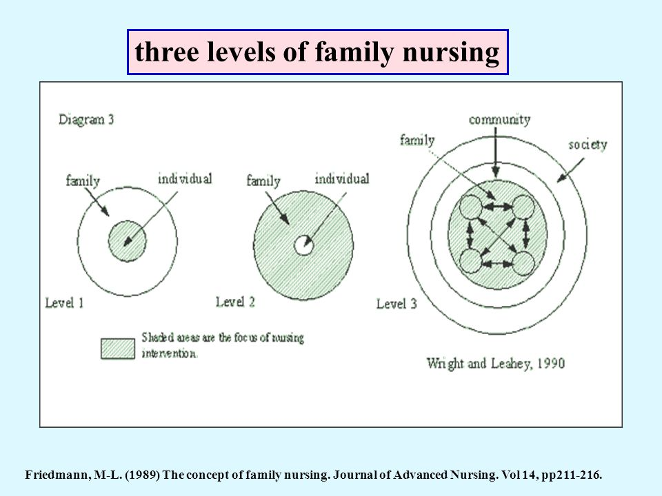 three levels of family nursing