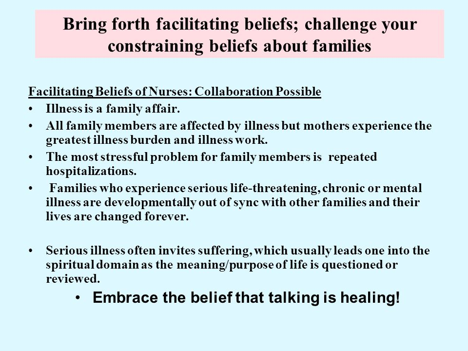 Embrace the belief that talking is healing!