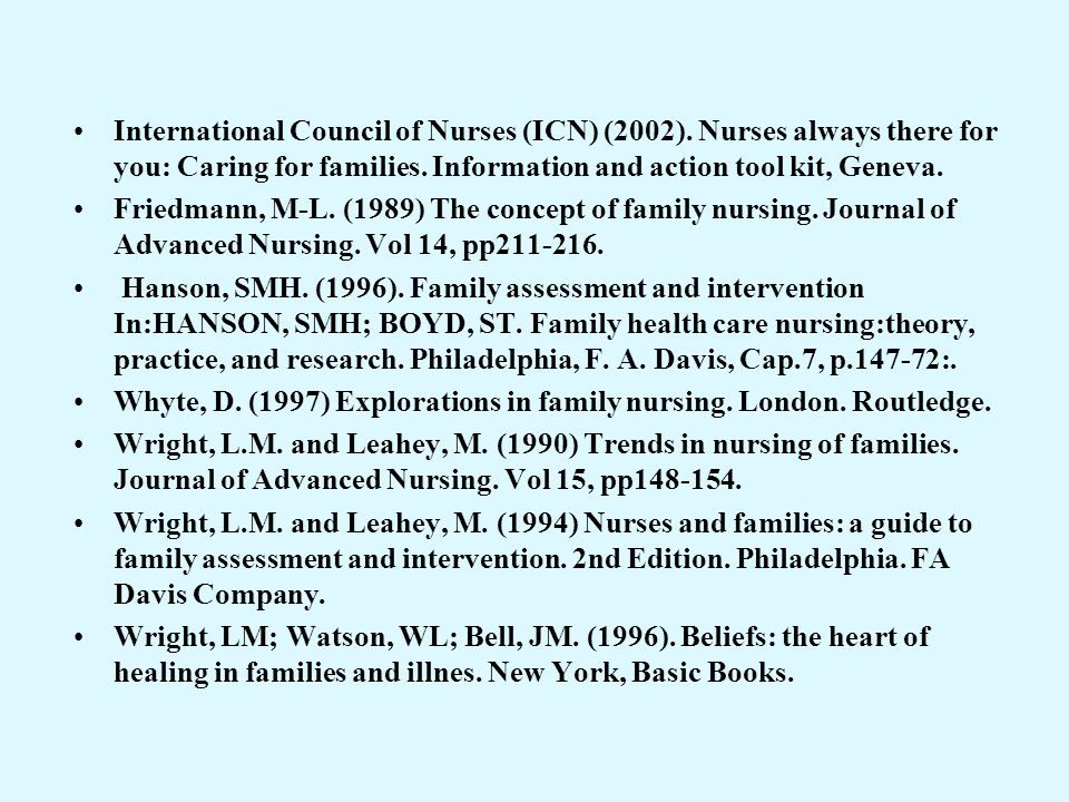 International Council of Nurses (ICN) (2002)