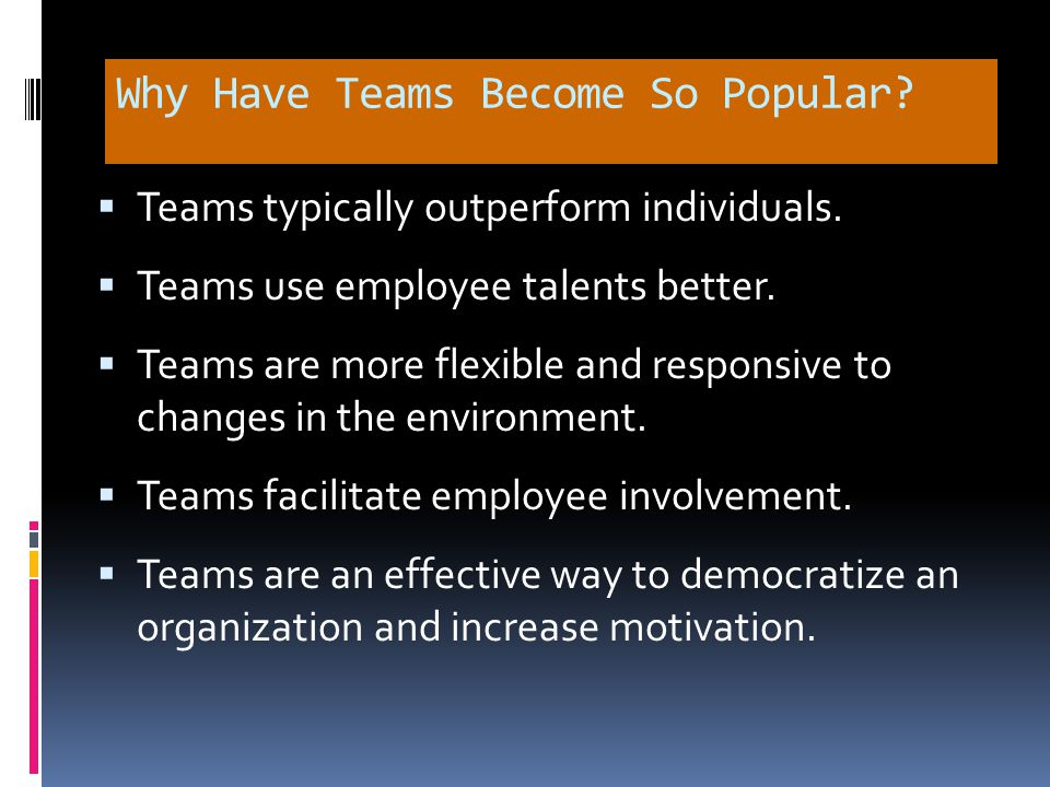 Team Versus Group: What's the Difference