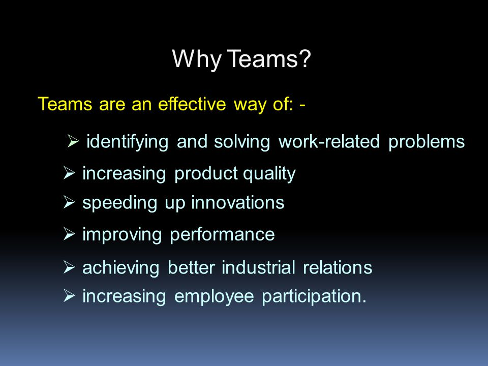 Teams - two functions Task function Maintenance function