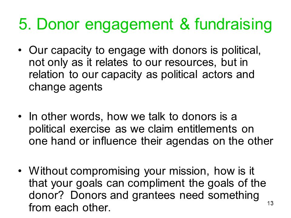 5. Donor engagement & fundraising