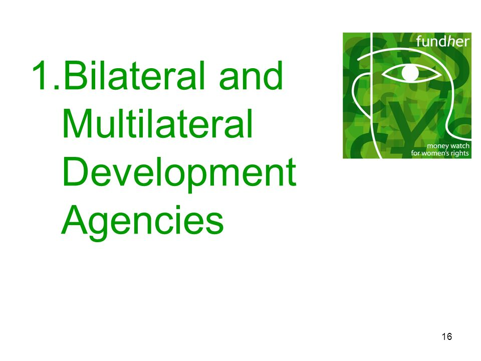 Bilateral and Multilateral Development Agencies