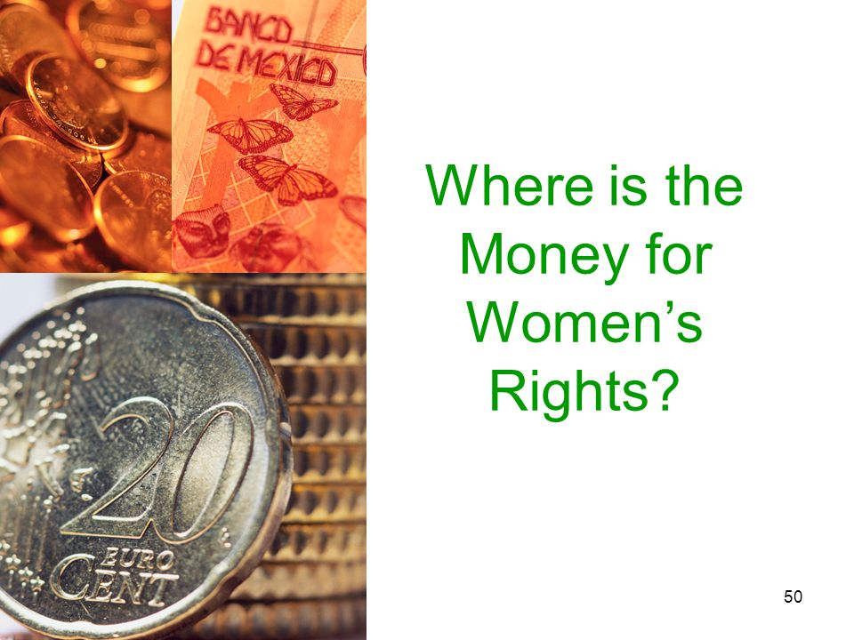 Where is the Money for Women's Rights