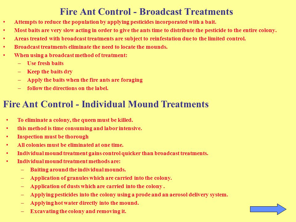 Fire Ant Control - Broadcast Treatments