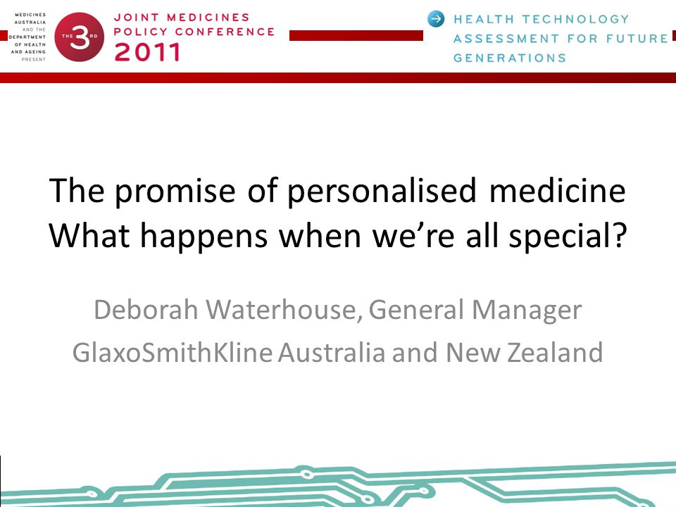 The promise of personalised medicine What happens when we're all special