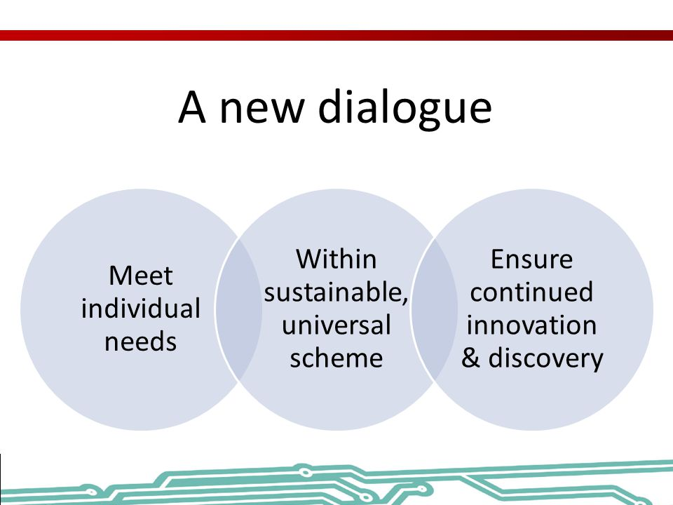 A new dialogue Meet individual needs