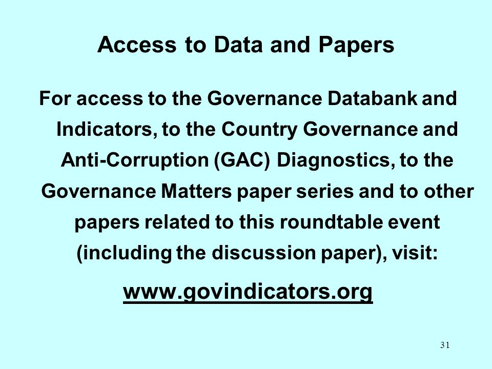Access to Data and Papers