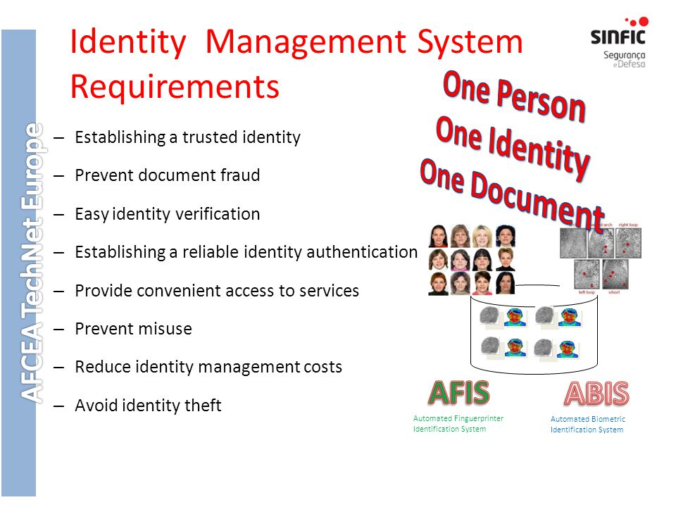 Identity Management System Requirements