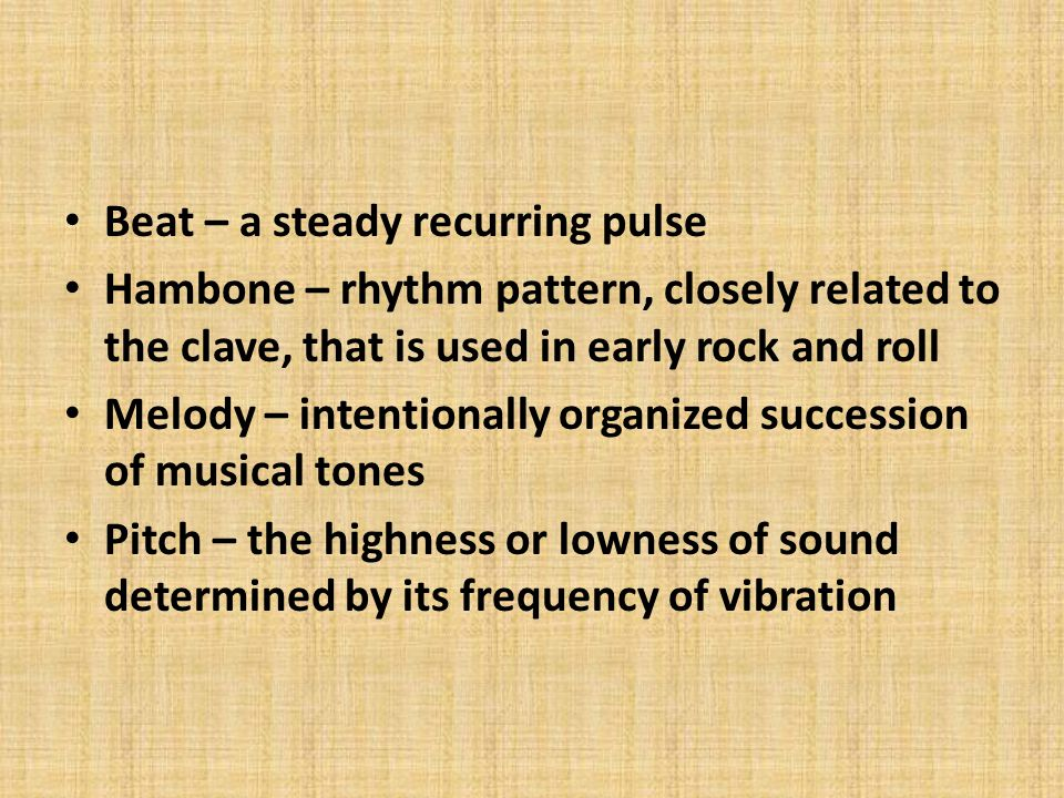Beat – a steady recurring pulse