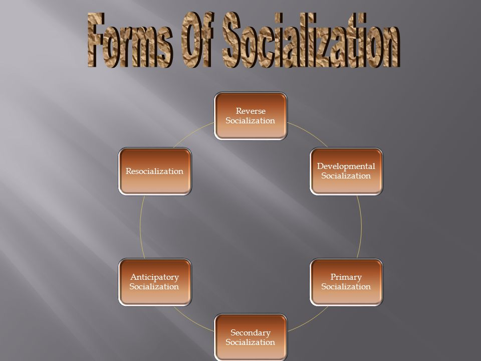 Forms Of Socialization