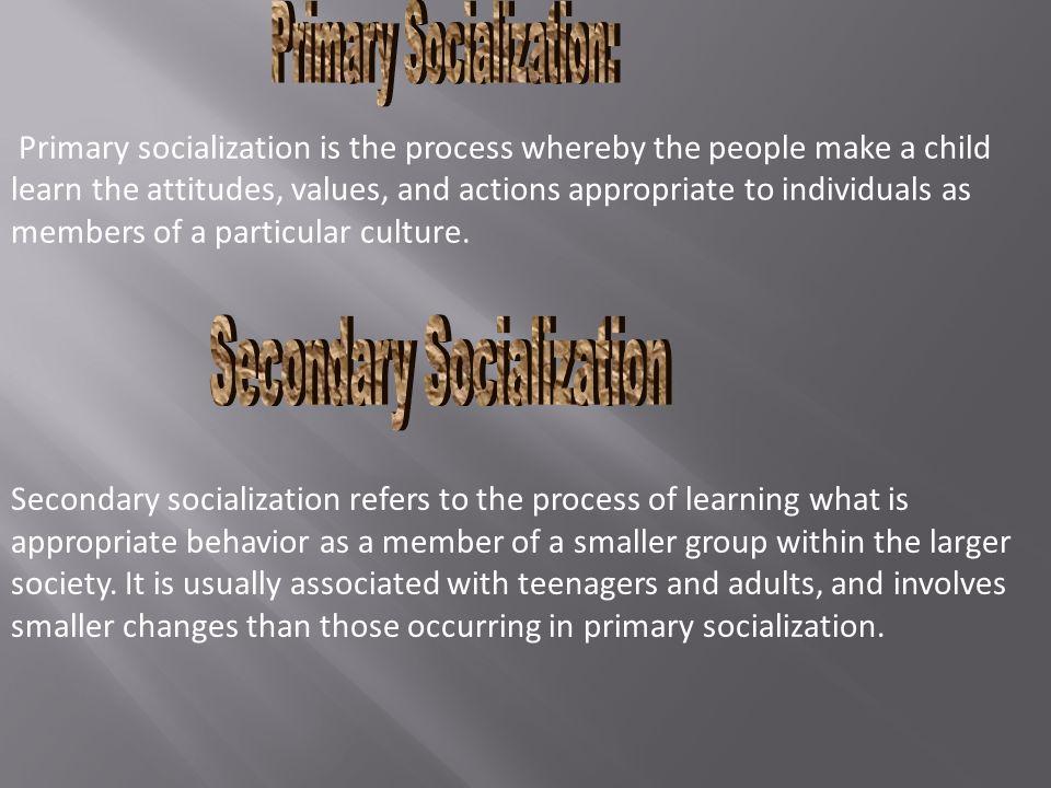 Primary Socialization: