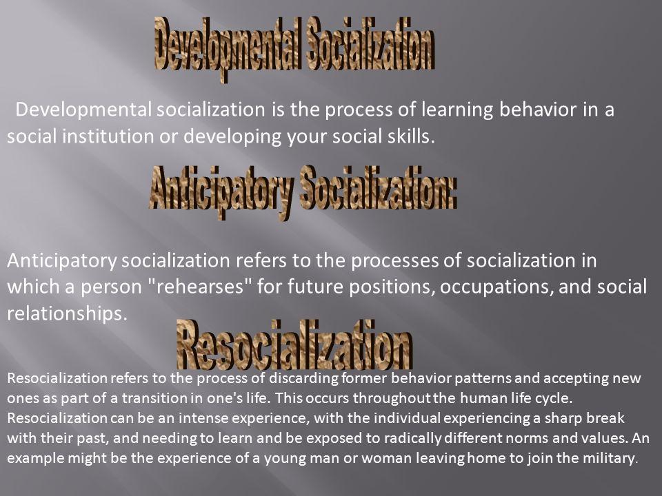 Developmental Socialization