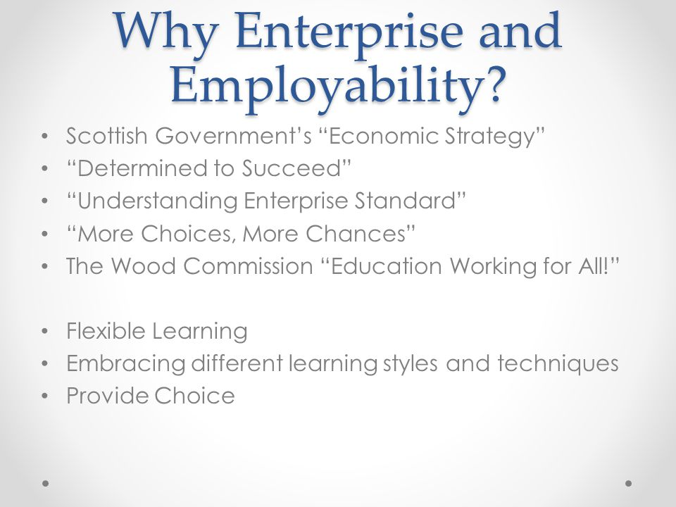 Why Enterprise and Employability