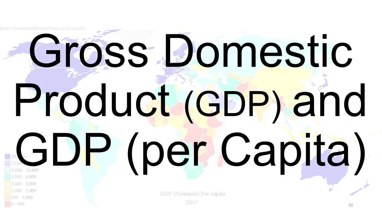 Gross Domestic Product (GDP) and GDP (per Capita)
