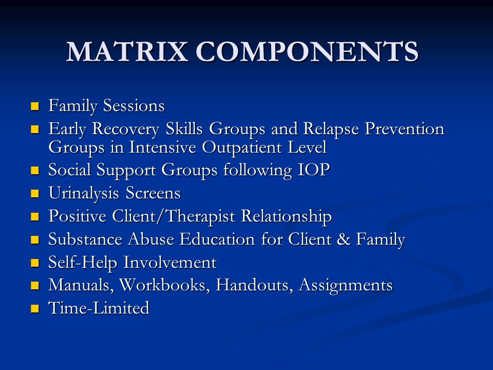 MATRIX COMPONENTS Family Sessions