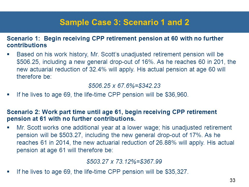 Sample Case 3: Scenario 1 and 2